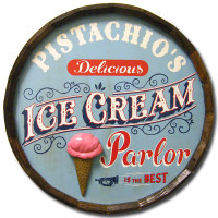 Ice Cream Parlor Vintage Quarter Barrel Sign