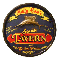 Personalized Seaside Tavern & Tattoo Parlor Sign