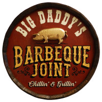 Vintage Barbeque Joint Quarter Barrel Sign
