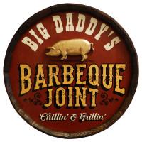Vintage Barbeque Joint Quarter Barrel Sign