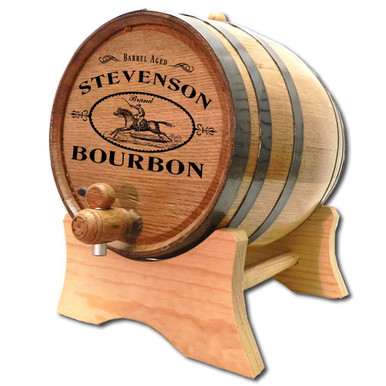 Bourbon Derby Personalized Oak Aging Barrel