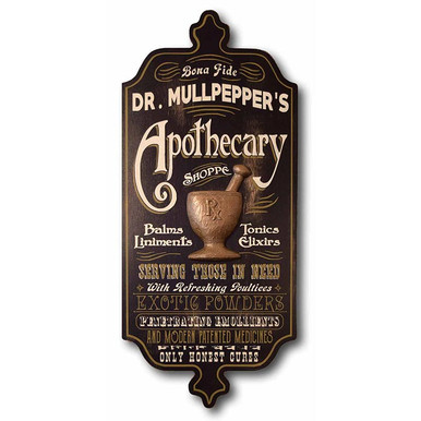 Old Fashioned Apothecary Shoppe Personalized Sign