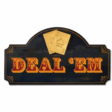 Deal 'Em Poker Plaque