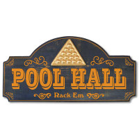Vintage Pool Hall Plaque