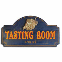 Vintage Tasting Room Plaque