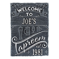 Taproom Brew Pub Plaque - Black / White