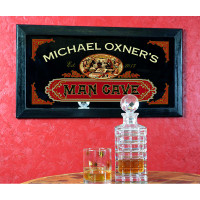 Old Fashioned Personalized Man Cave Mirror