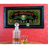 Old Fashioned Personalized Whiskey Bar Mirror