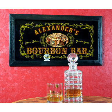 Old Fashioned Personalized Bourbon Bar Mirror