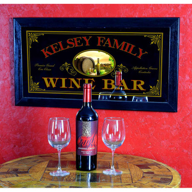 Wine Bar Mirror - Old Fashioned & Personalized
