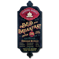 Vintage Personalized Bed & Breakfast Sign
