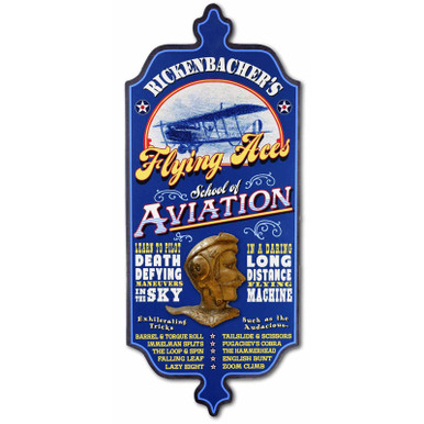 Old-Fashioned Personalized Aviation Pilot Sign