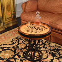 Whiskey Bar Personalized Quarter Barrel Coffee Table
