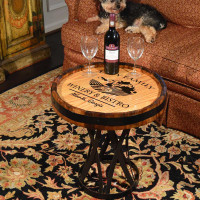 Chateau Winery Personalized Quarter Barrel Coffee Table