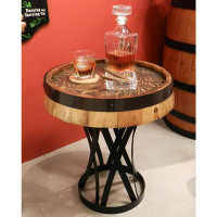 Whiskey Quarter Barrel Coffee Table