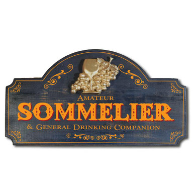 Sommelier Vintage Wood Sign