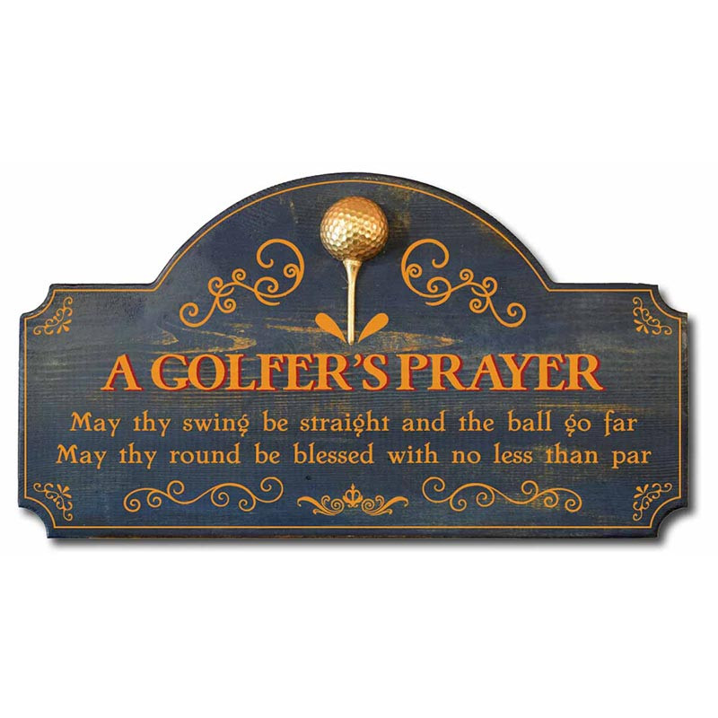 A Golfer S Prayer Vintage Golf Decor Wood Sign With