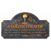 A Golfer's Prayer Vintage Golf Decor Wood Sign