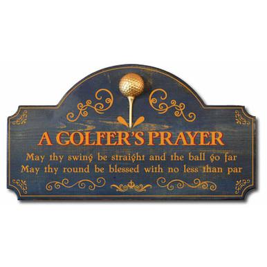A Golfer's Prayer Vintage Golf Decor Wood Sign