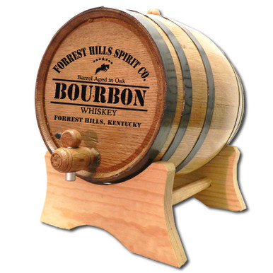 Personalized Bourbon Whiskey Oak Barrel