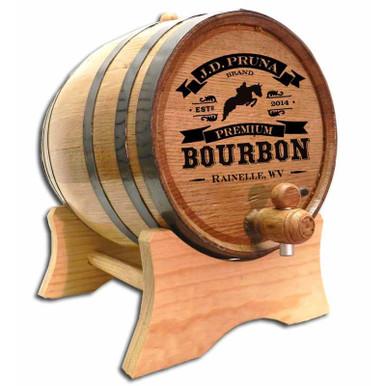 Custom engraved Bourbon Barrel with medium char