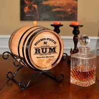 Optional upgrade to classy wrought iron barrel stand