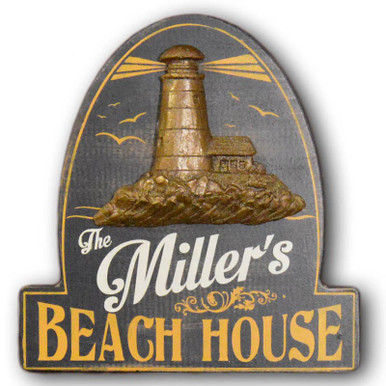 Vintage Personalized Beach House Sign