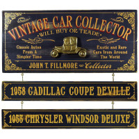 Personalized Vintage Car Collector Sign