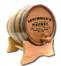 Oak barrel with barrel head engraved