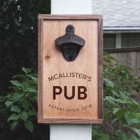 Custom Engraved Pub Sign Bottle Opener