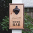 """Personalized """"Home Bar"""" Wall Mounted Wooden Bottle Opener"""