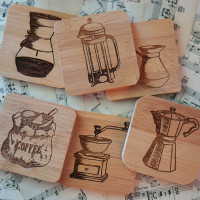Coffee Art Coasters - Original Artwork