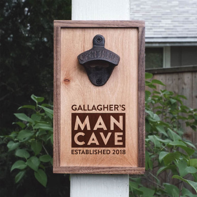 Personalized Man Cave Home Bar Bottle Opener