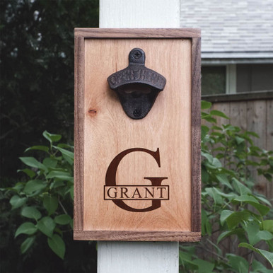 Personalized Name & Initial Home Bar Bottle Opener