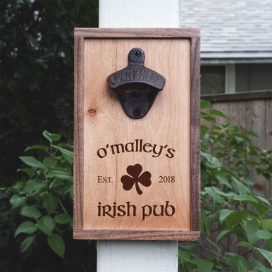 Irish Pub Personalized Wall Mounted Beer Opener