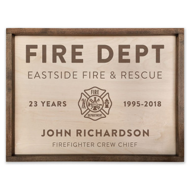 Fire Fighter Personalized Wood Sign
