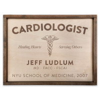 "Custom Cardiologist Wooden Sign - 18"" x 24"""