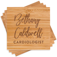 Engraved Medical Professional Coaster Set