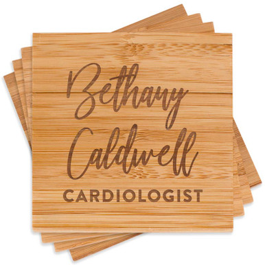 Engraved Medical Professional Coaster Set