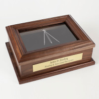 Personalized Surveyor Professional Commemorative Walnut Wood Keepsake Box