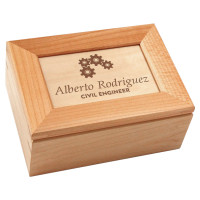 Custom Engraved Engineer Gift Maple Wood Keepsake Box