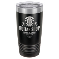 Personalized Tumblers - 20oz Black Custom Engraved Tumbler Mug
