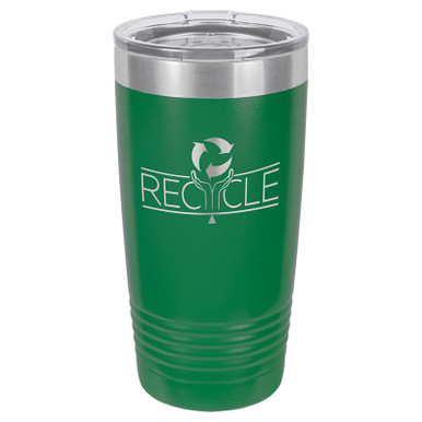 Personalized Tumblers - 20oz Green Custom Engraved Tumbler Mug