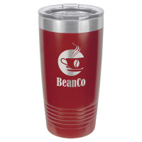 Personalized Tumblers - 20oz Maroon Custom Engraved Tumbler Mug