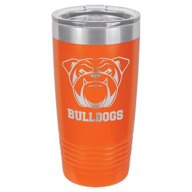 Personalized Tumblers - 20oz Orange Custom Engraved Tumbler Mug