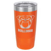 Personalized Tumblers - 20oz Orange Custom Engraved Tumbler Mug