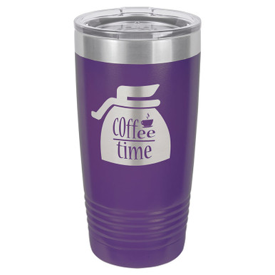 Personalized Tumblers - 20oz Purple Custom Engraved Tumbler Mug