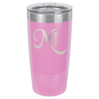 Personalized Tumblers - 20oz Light Purple Custom Engraved Tumbler Mug