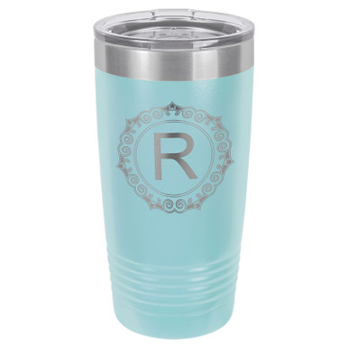 Personalized Tumblers - 20oz Light Blue Custom Engraved Tumbler Mug