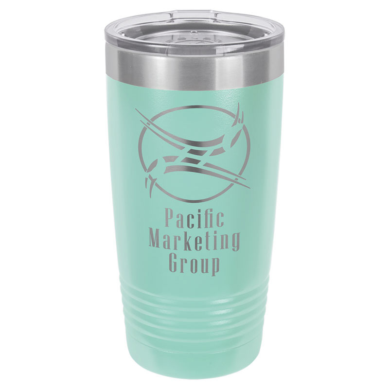 Personalized Tumbler 20oz Teal Custom Engraved Polar Camel Insulated Thermal Mug